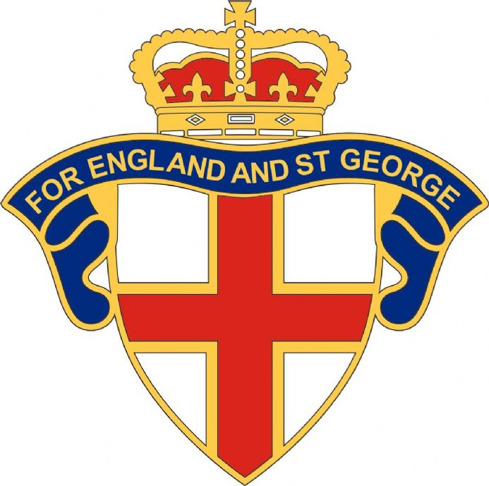 "England Car Window Sticker ""For England and St George"""